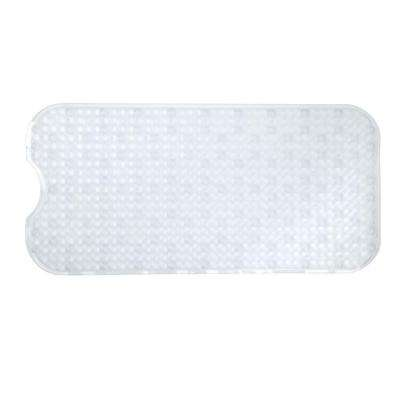 15.5 in. x 32 in. Prism Bath Mat in Clear