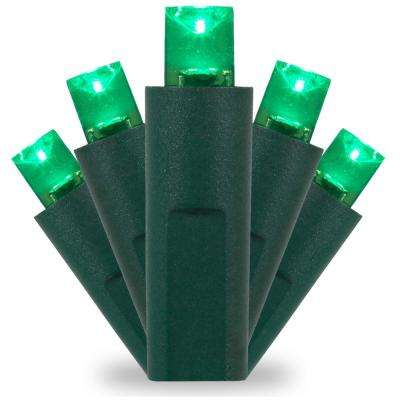 25 ft. 50-Light Green 5 mm LED Balled Mini Light Set