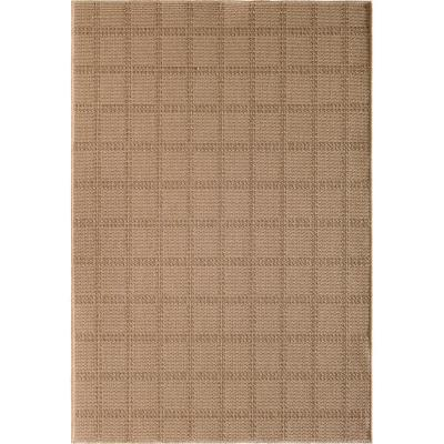Santorini Regular Plaid Natural/Earth 8 ft. x 10 ft. Indoor/Outdoor Area Rug