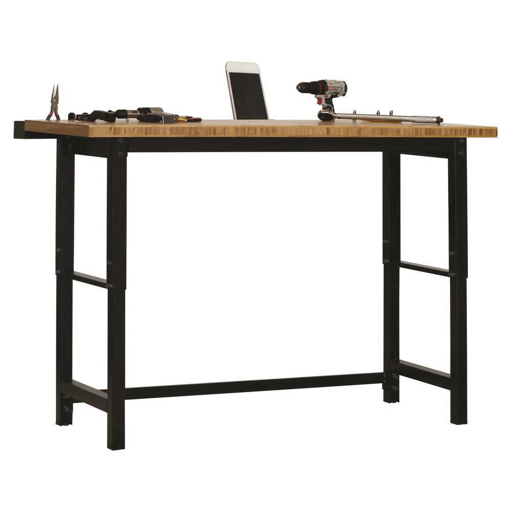 Enjoyable Edsal 7 5 Ft Bamboo Top Workbench Wb362490 The Home Depot Evergreenethics Interior Chair Design Evergreenethicsorg