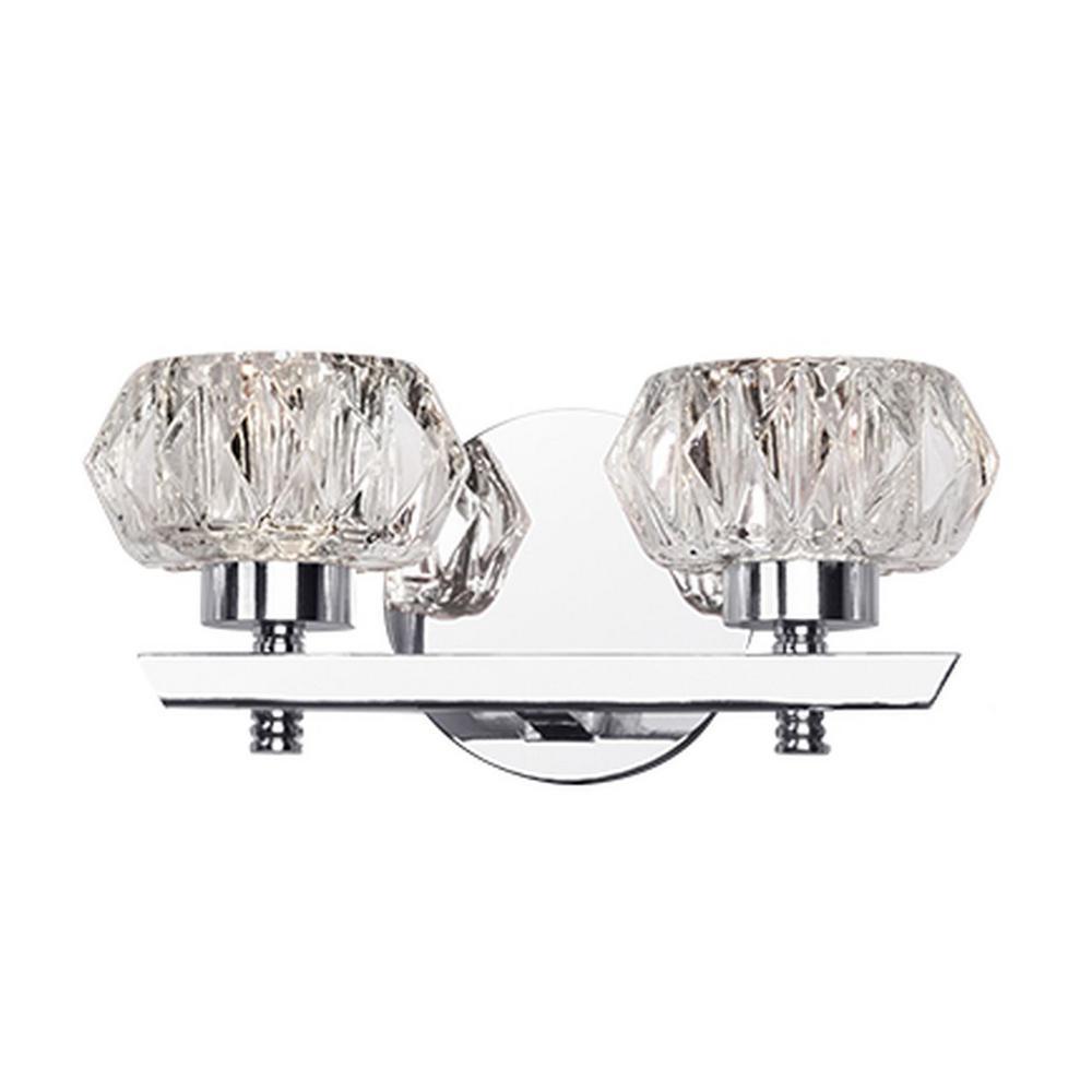 Nevaeh 1-Light Chrome 10-Watt Equivalence Integrated LED Bath Light