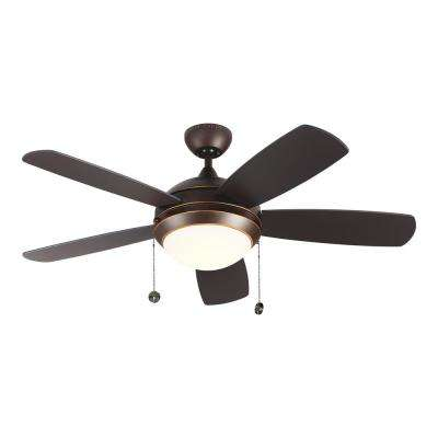 Discus Classic 44 in. Integrated LED Roman Bronze Ceiling Fan with 3000K Light Kit