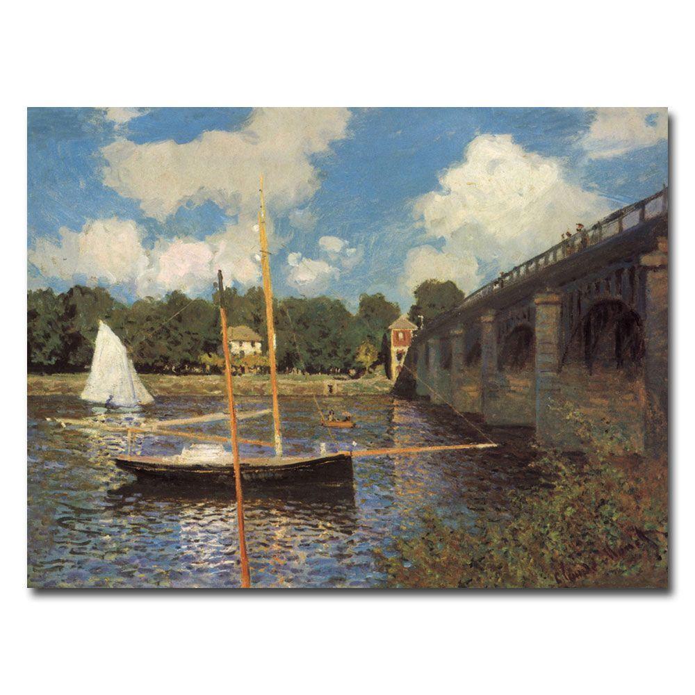 18 in. x 24 in. Bridge at Argenteuil II Canvas Art