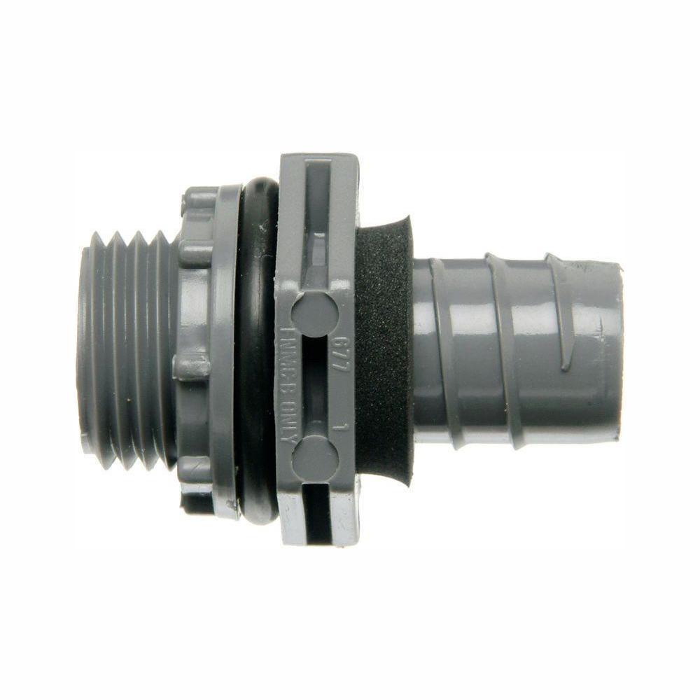 3/4 in. Straight Non-Metallic Liquid Tight 1-Piece PVC Fitting (Case of 20)