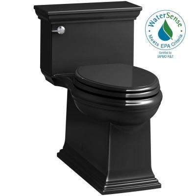 Memoirs Stately 1-Piece 1.28 GPF Single Flush Elongated Toilet in Black (Seat Included)