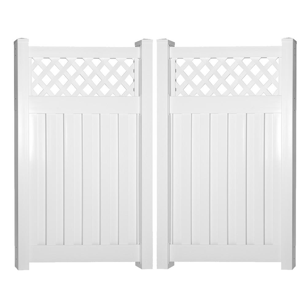 Clearwater 8 ft. W x 5 ft. H White Vinyl Privacy