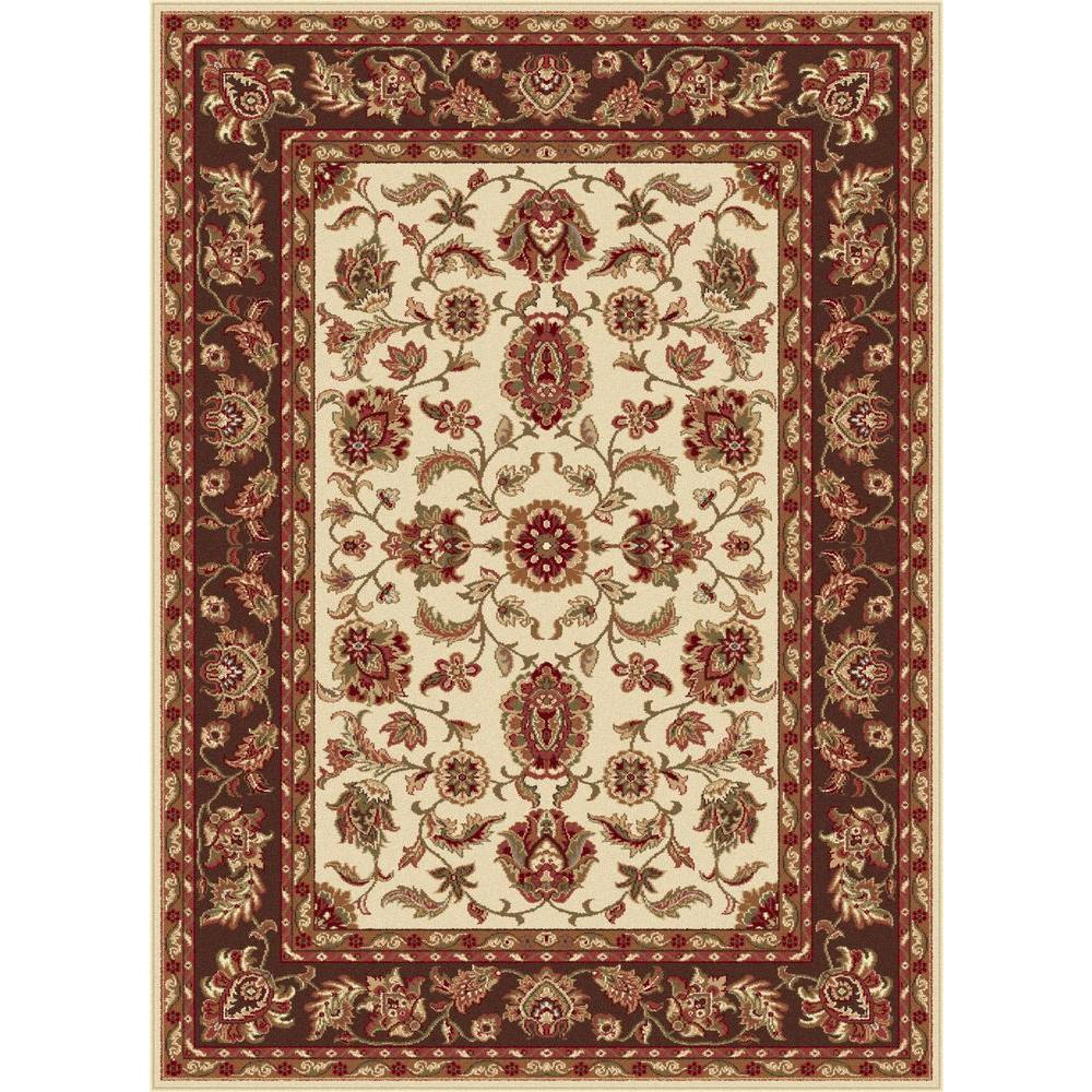 Tayse Rugs Sensation Beige 7 ft. 10 in. x 10 ft. 6 in. Transitional Area Rug