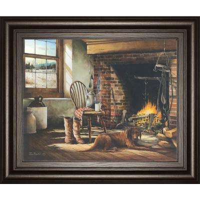 """22 in. x 26 in. """"His Morning Coffee"""" by John Rossini Framed Printed Wall Art"""
