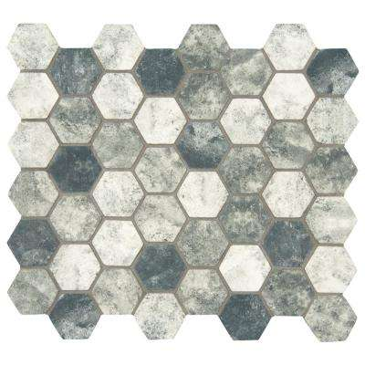 Urban Tapestry Hexagon 12 in. x 12 in. x 6 mm Glass Mesh-Mounted Mosaic Tile