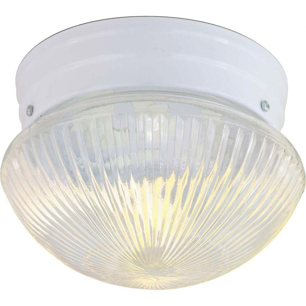 Tony 2-Light White Flush Mount
