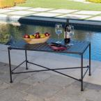 Petra Black Rectangle Metal Outdoor Coffee Table