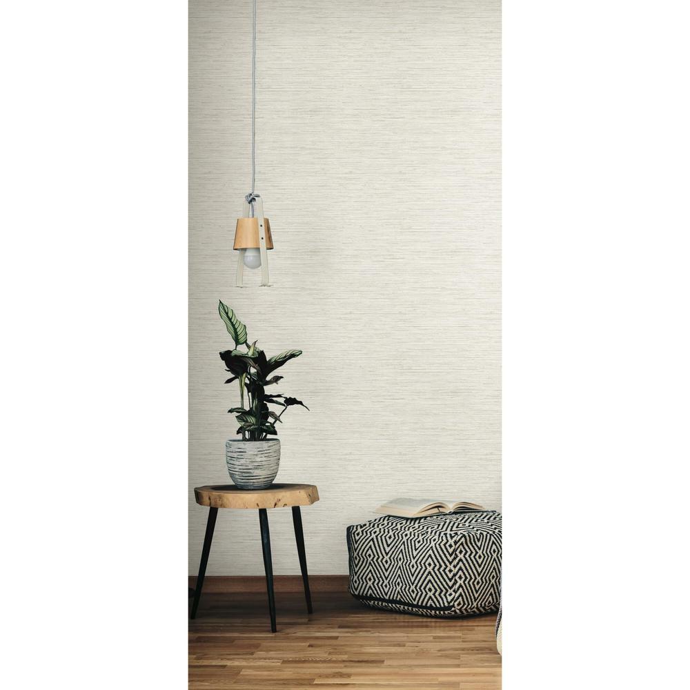 28.18 sq ft Grasscloth Peel and Stick Wallpaper