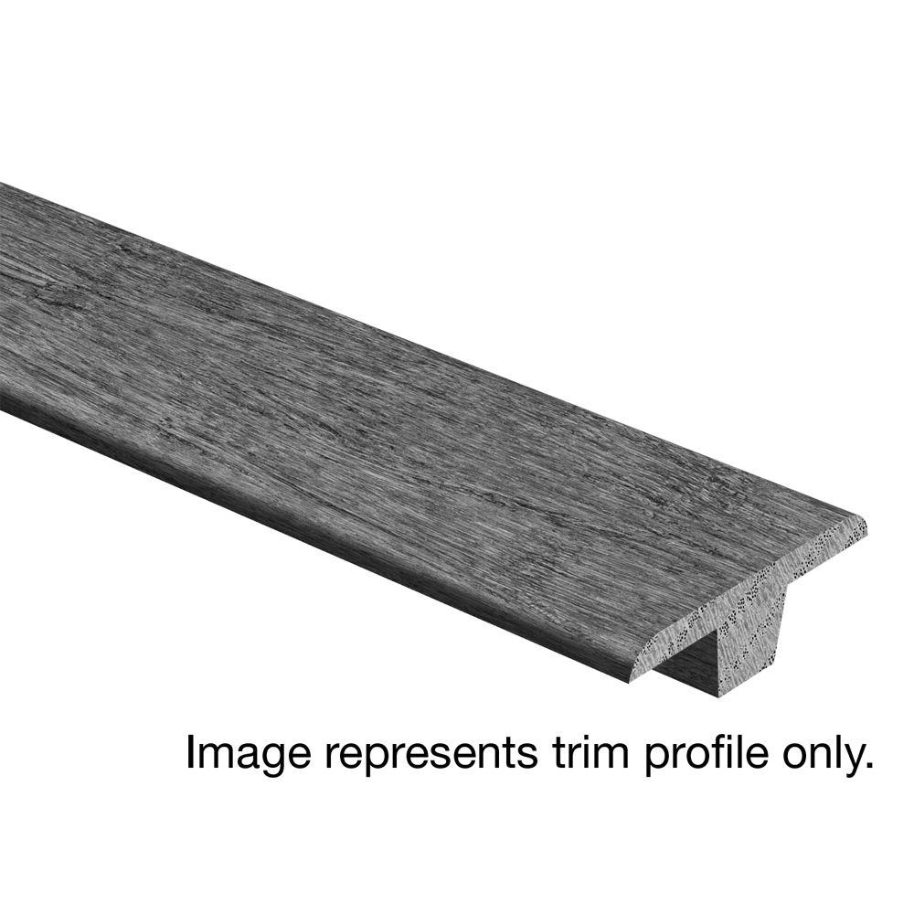 Zamma Scraped Tranquil Fog Maple 3/8 in. Thick x 1-3/4 in. Wide x 94 in. Length Hardwood T-Molding