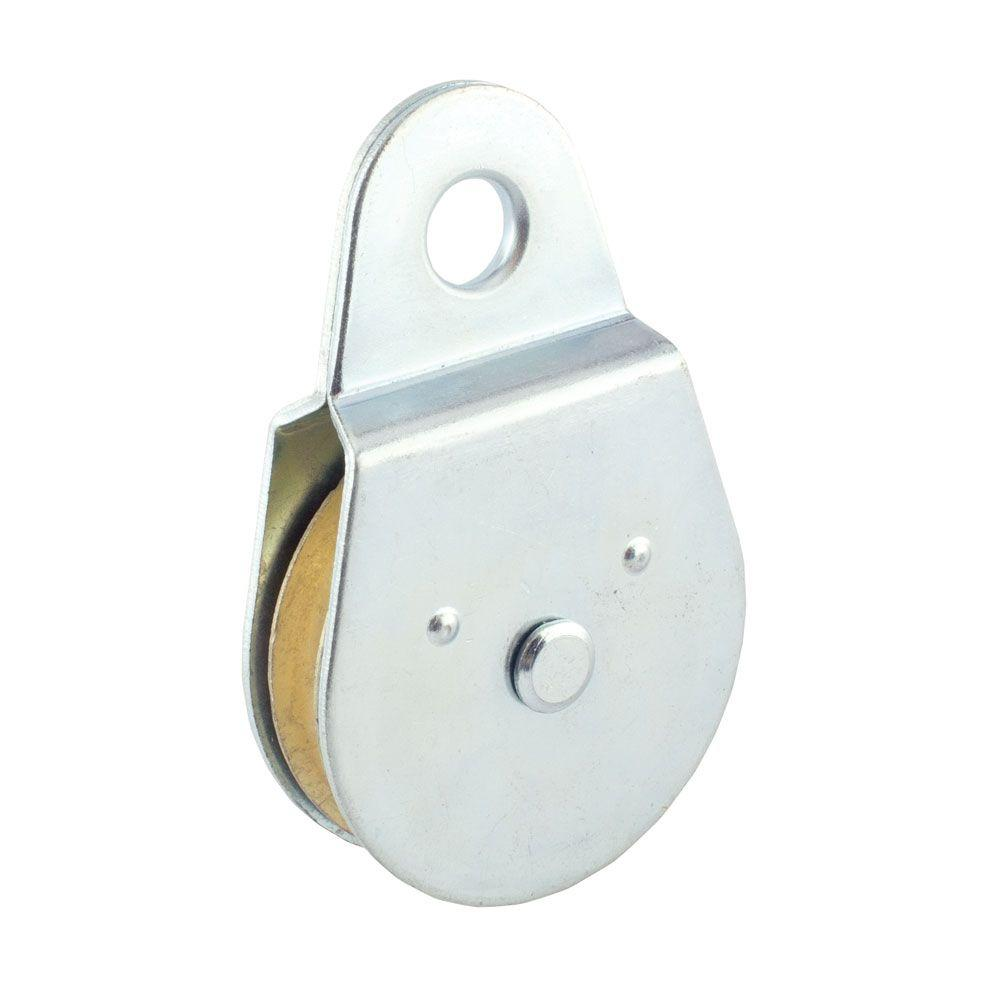 Everbilt 1-1/2 in. Zinc-Plated Rigid Single Pulley