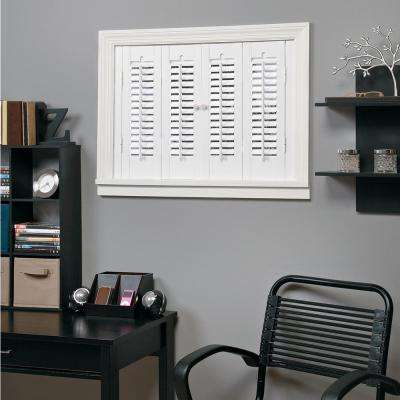 Ordinaire Traditional Faux Wood White Interior Shutter (Price Varies By Size)