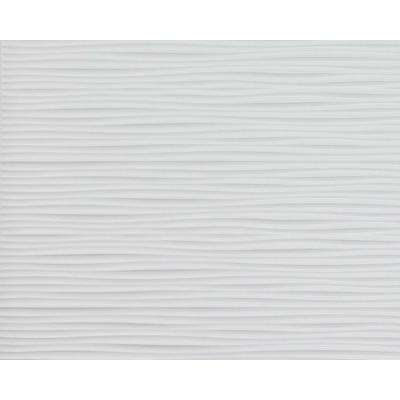 Wilderness 18.5 in. x 24.3 in. PVC Backsplash Panel in Snow White
