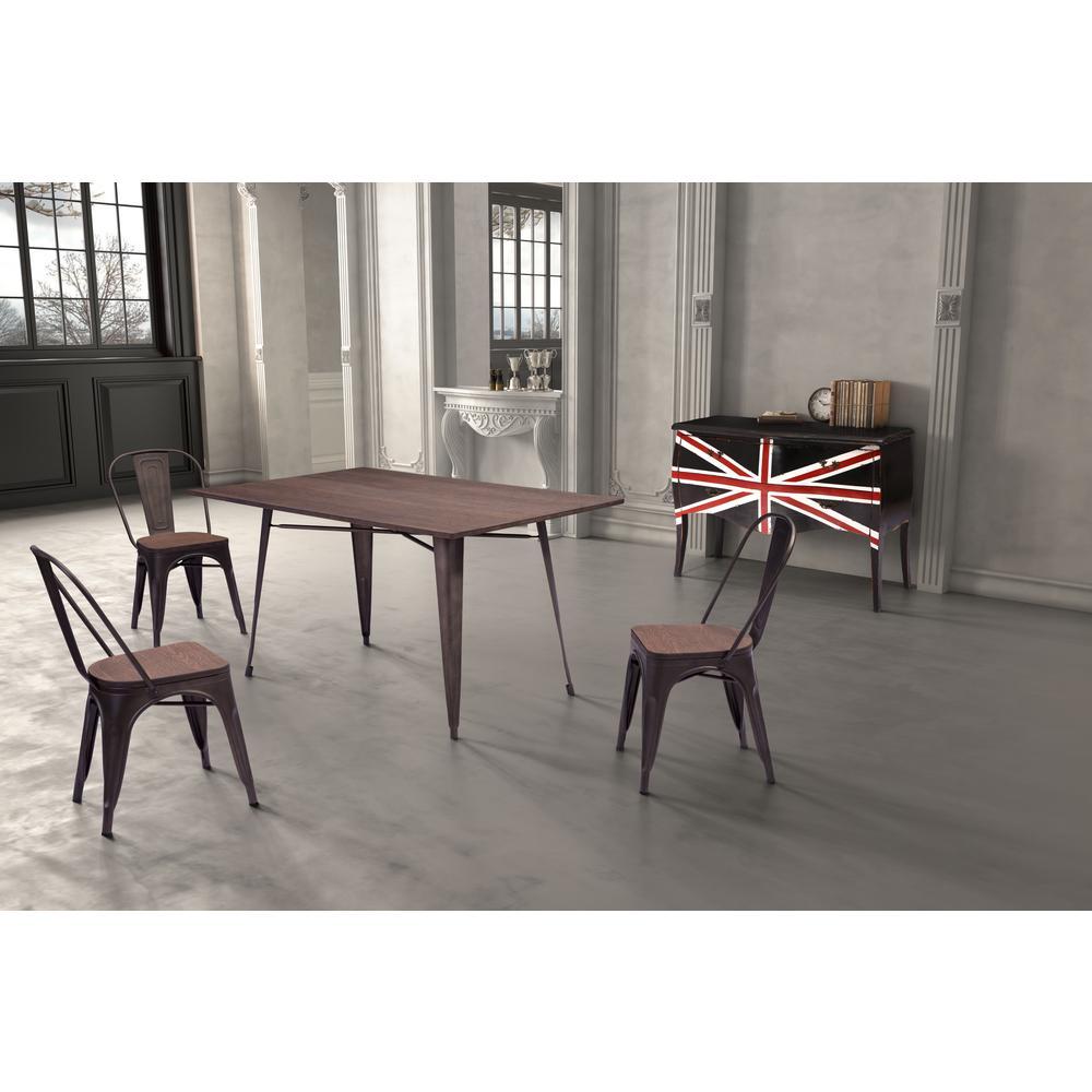 Zuo titus rectangular dining table rustic wood