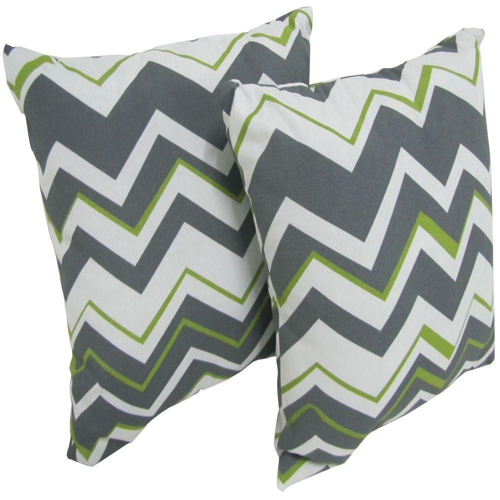 Arlington House Tempest Sterling Square Outdoor Throw Pil...