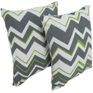 Arlington House Tempest Sterling Square Outdoor Throw Pillow (2-Pack) by Arlington House
