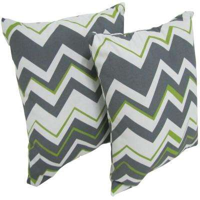 Tempest Sterling Square Outdoor Throw Pillow (2-Pack)