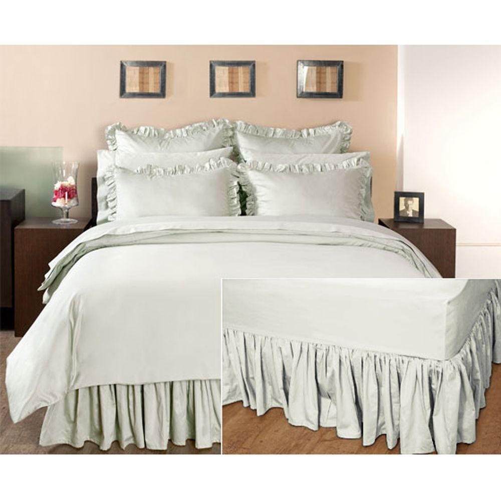 Home Decorators Collection Ruffled Windrush King Bedskirt