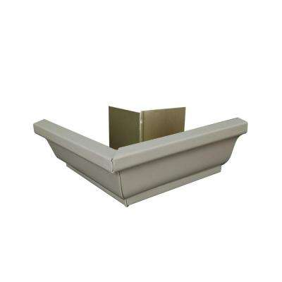6 in. Pearl Gray Aluminum Outside Gutter Mitre Box