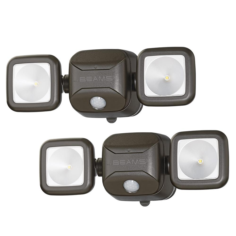 Wireless Outdoor Flood Lights Battery outdoor security lighting outdoor lighting the home depot wireless 140 degree bronze motion sensing outdoor integrated led security flood light 2 workwithnaturefo