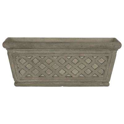 20 in. L x 8 in. W Granite Composite Lattice Window Box