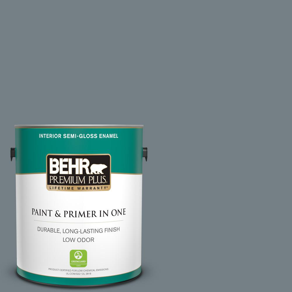 Reviews For Behr Premium Plus 1 Gal Bnc 39 Peak Point Semi Gloss Enamel Low Odor Interior Paint And Primer In One 340001 The Home Depot
