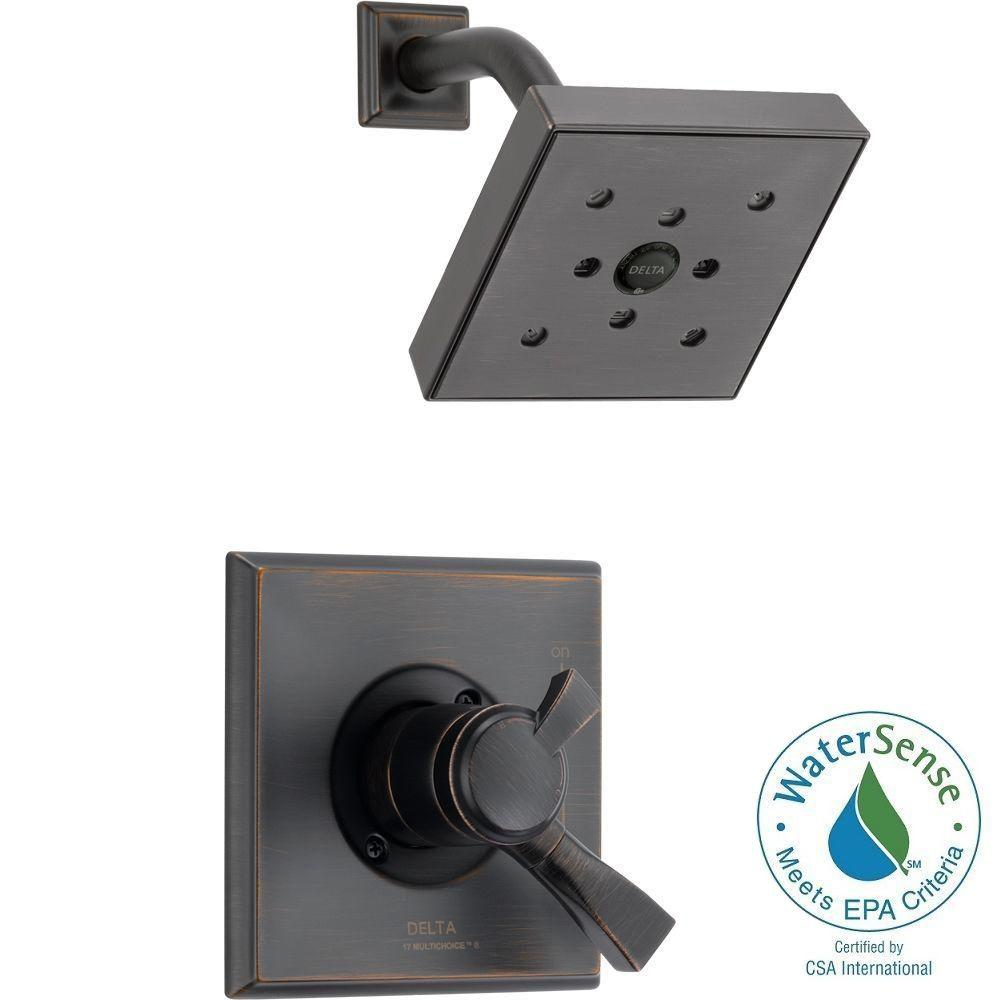 Dryden 1-Handle H2Okinetic Shower Only Faucet Trim Kit in Venetian Bronze