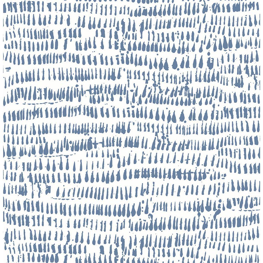 Runes Blue Brushstrokes Blue Wallpaper Sample