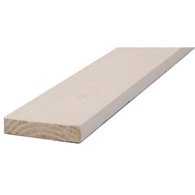 1 in. x 4 in. x 8 ft. White Finger-Joint Square Edge Primed Pine Board
