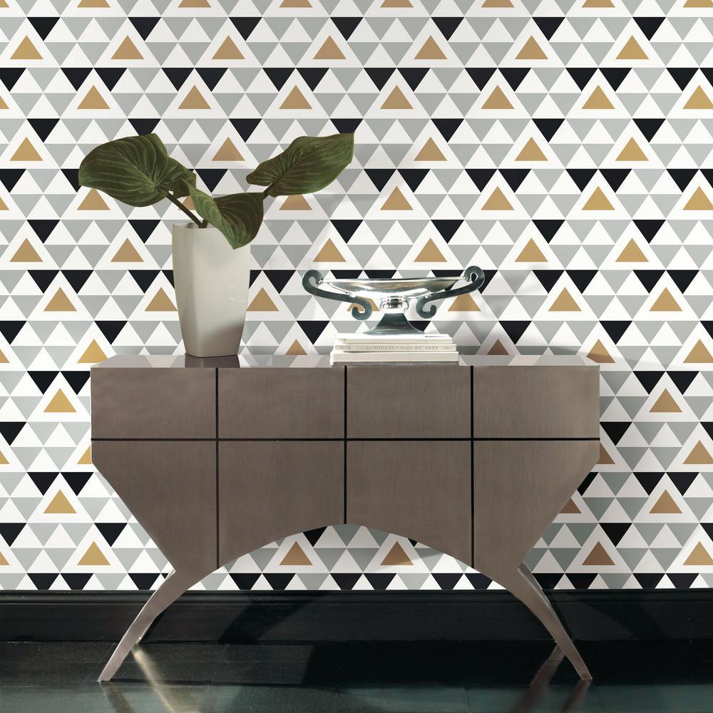 RoomMates 28.18 sq. ft. Geometric Triangle Peel and Stick ...