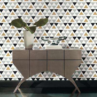Geometric Multi Colored Wallpaper Home Decor The Home Depot