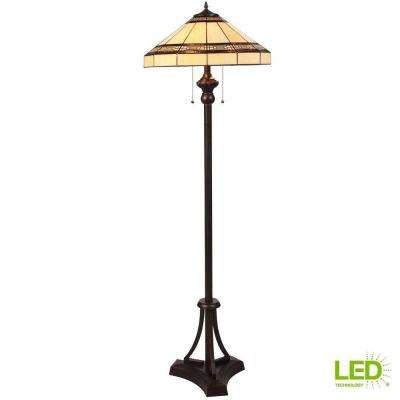 Addison 60.25 in. Oil-Rubbed Bronze Floor Lamp with LED Bulbs