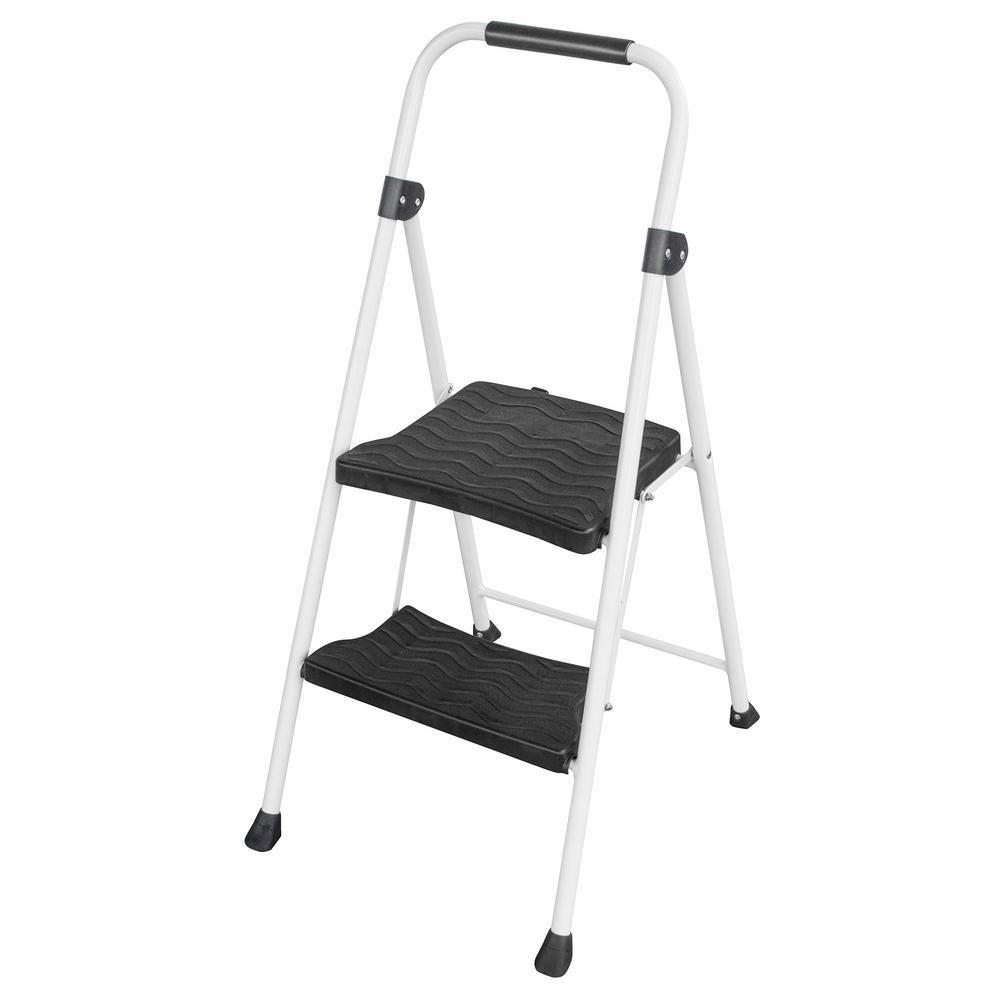 2-Step Metal Folding Utility Step Ladder