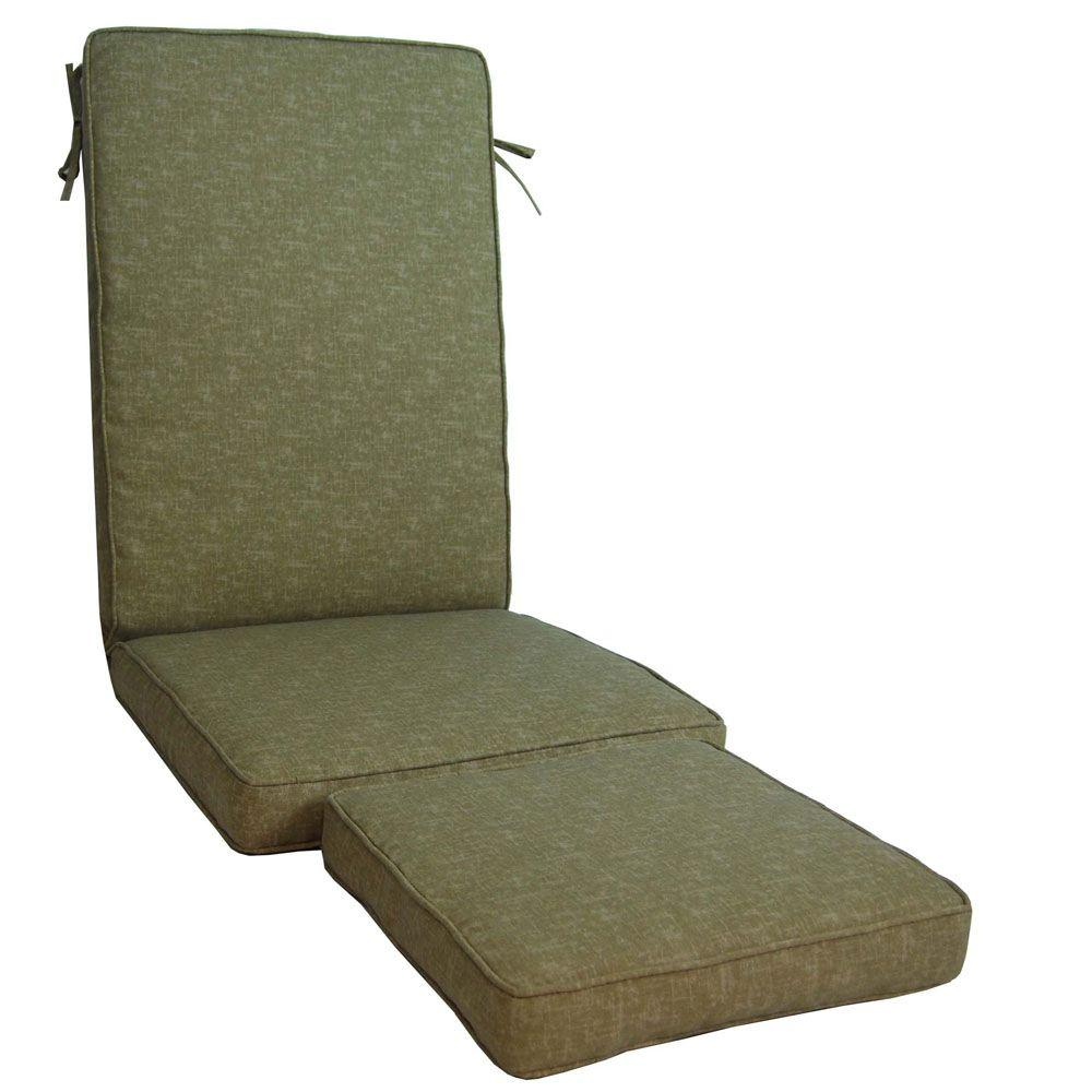 null Barts Textured Sand Outdoor Steamer Chair Cushion-DISCONTINUED