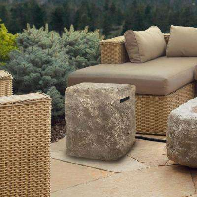 Antique Stone 16 in. Propane Tank Cover in Chiseled Limestone