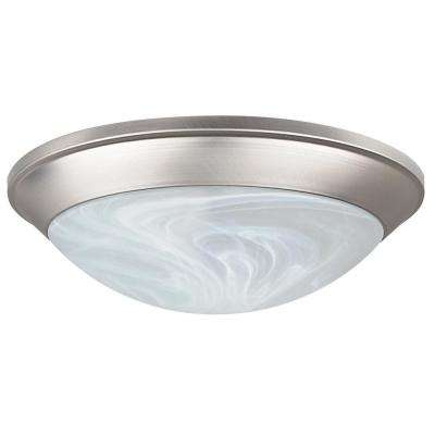 Monterey 1-Light Satin Nickel Flush Mount