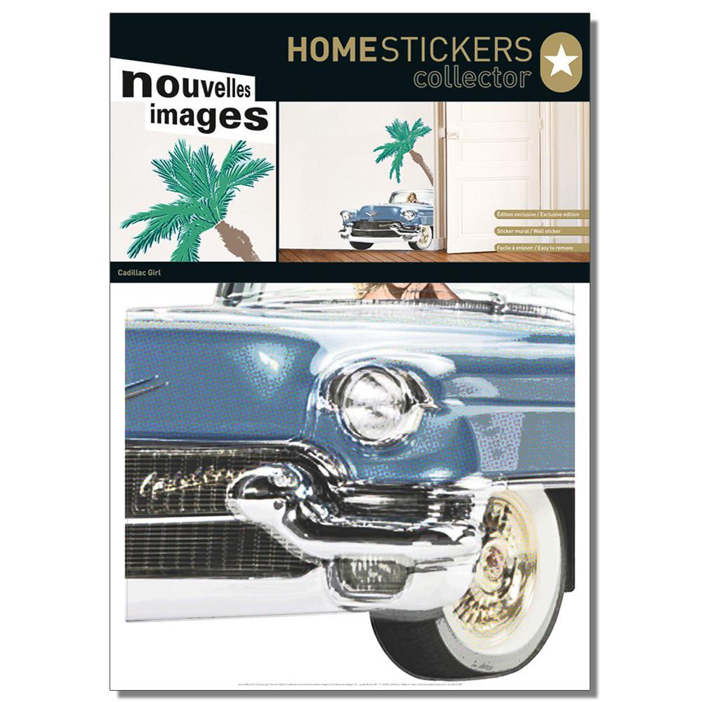 Multicolor Cadillac Girl Home Sticker