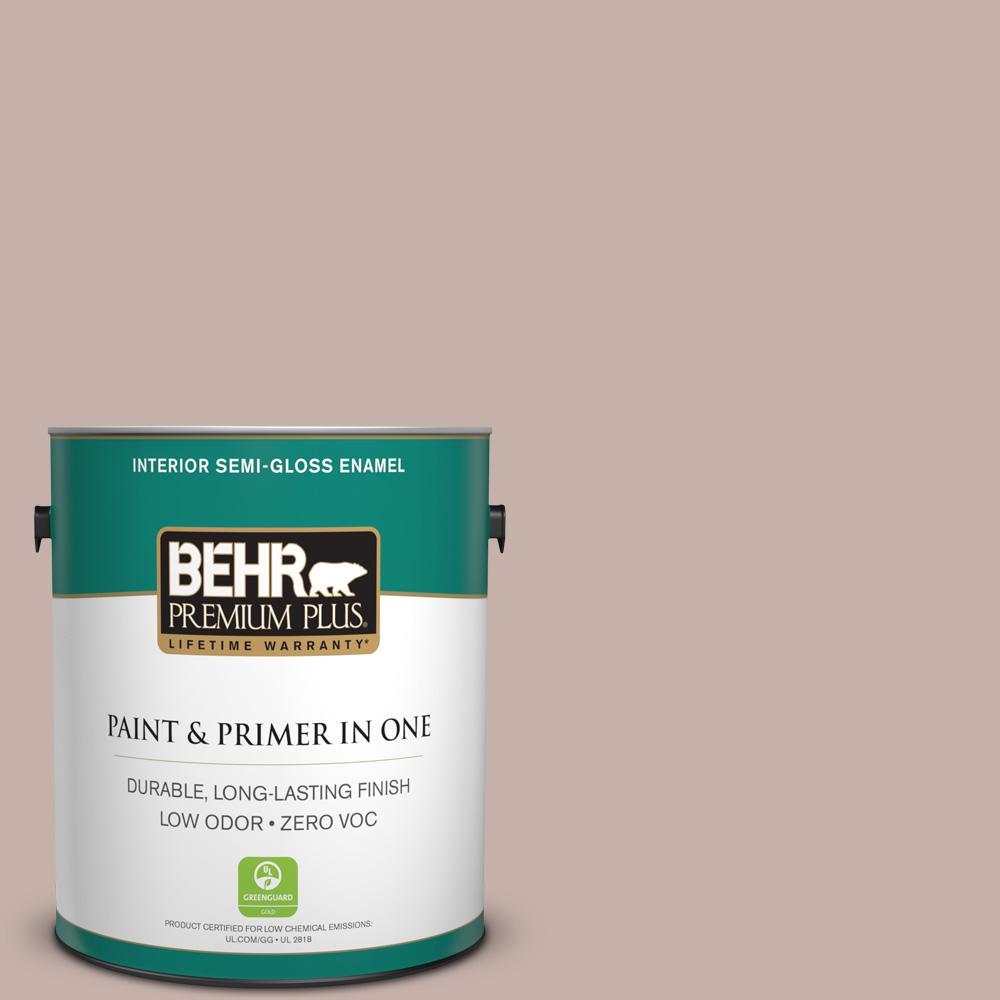 1 gal. #PPU17-10 Mauvette Zero VOC Semi-Gloss Enamel Interior Paint