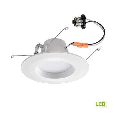 Bluetooth 5 in. and 6 in. 65w Equivalent White LED Recessed Downlight Trim with Multi Color Changing Feature