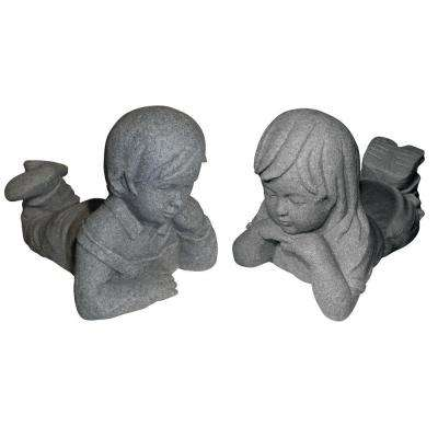 Boy and Girl Day Dreamers in Granite Finish