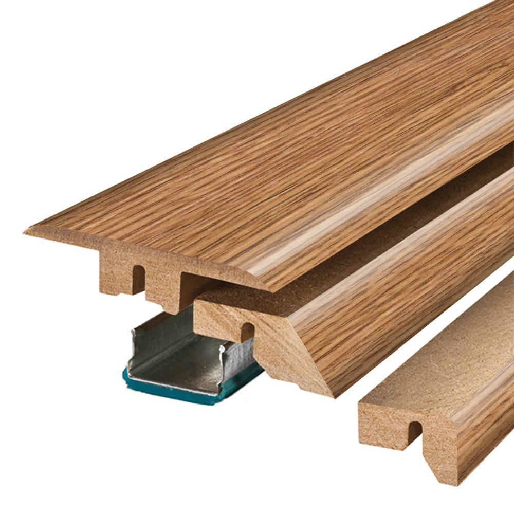 Pergo Grand Oak/Royal Oak 3/4 in. Thick x 2-1/8 in. Wide x 78-3/4 in. Length Laminate 4-in-1 Molding, Light -  MG001289