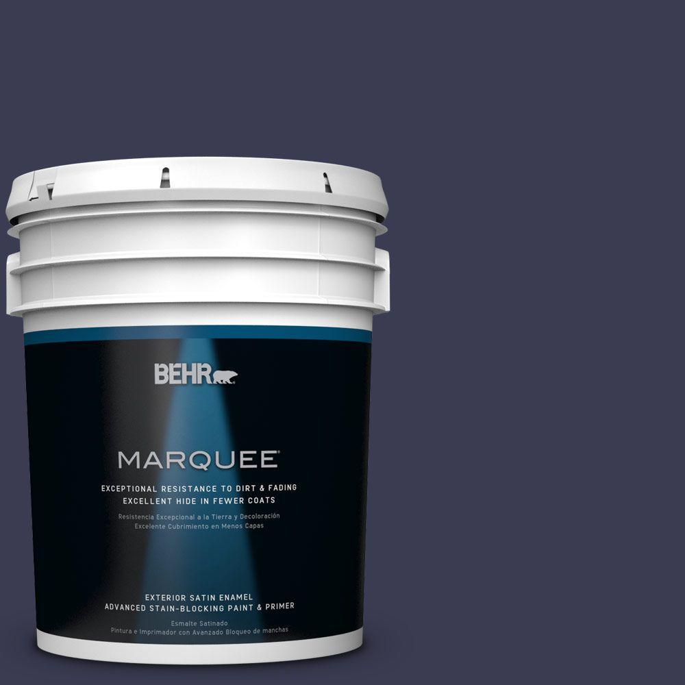 5 gal. #HDC-WR16-03 Blueberry Tart Satin Enamel Exterior Paint