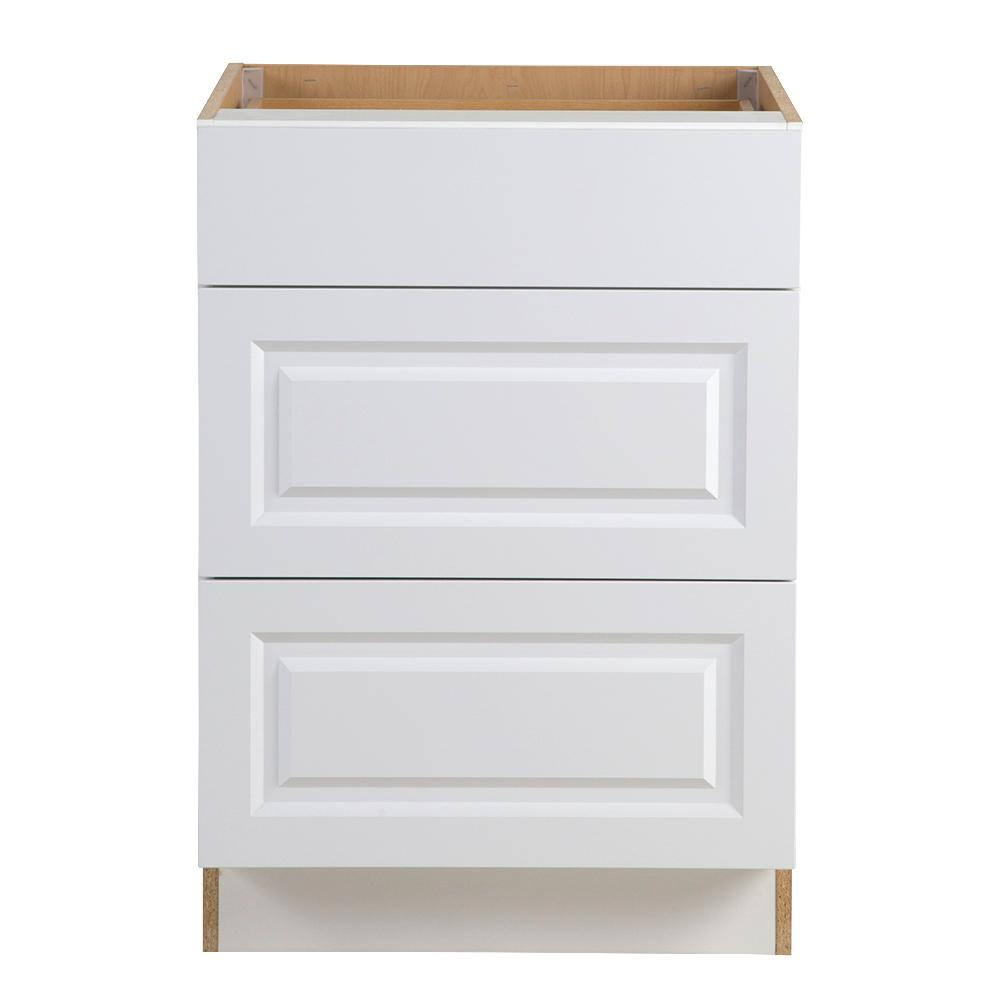Assembled 24x34 5x24 In Drawer Base Kitchen Cabinet In: Hampton Bay Benton Assembled 24x34.5x24.5 In. Base Cabinet