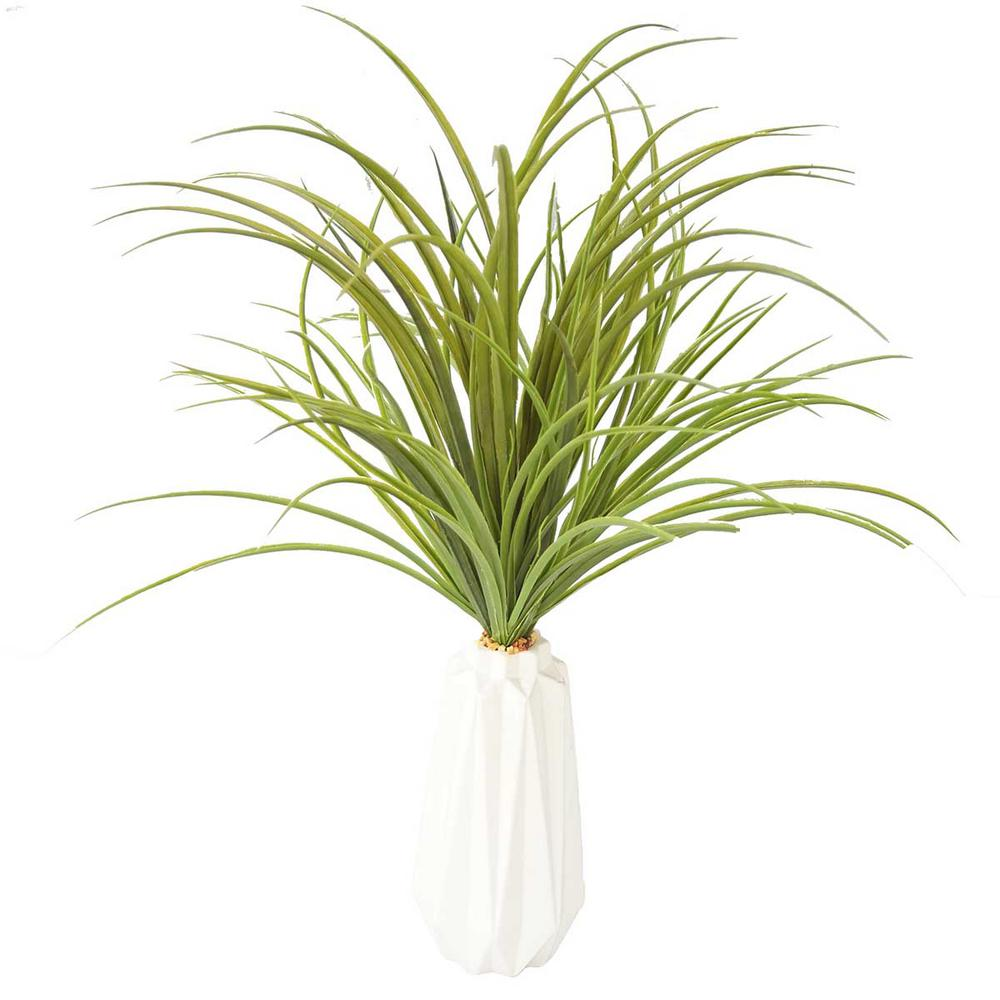 Laura Ashley 26 in. Tall Plastic Grass Artificial Indoor/ Outdoor Faux Dcor in White Ceramic Vase was $74.39 now $39.58 (47.0% off)