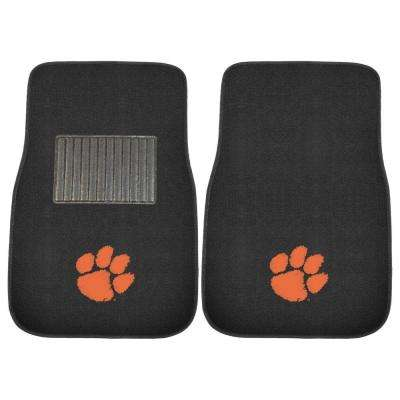 NCAA Clemson University 2-Piece 17 in. x 25.5 in. Carpet Embroidered Car Mat
