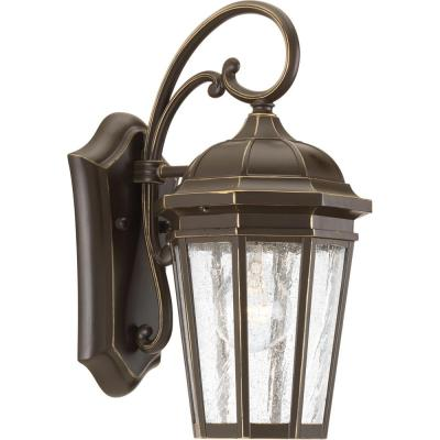 Verdae Collection 1-Light 13.25 in. Outdoor Antique Bronze Wall Lantern Sconce