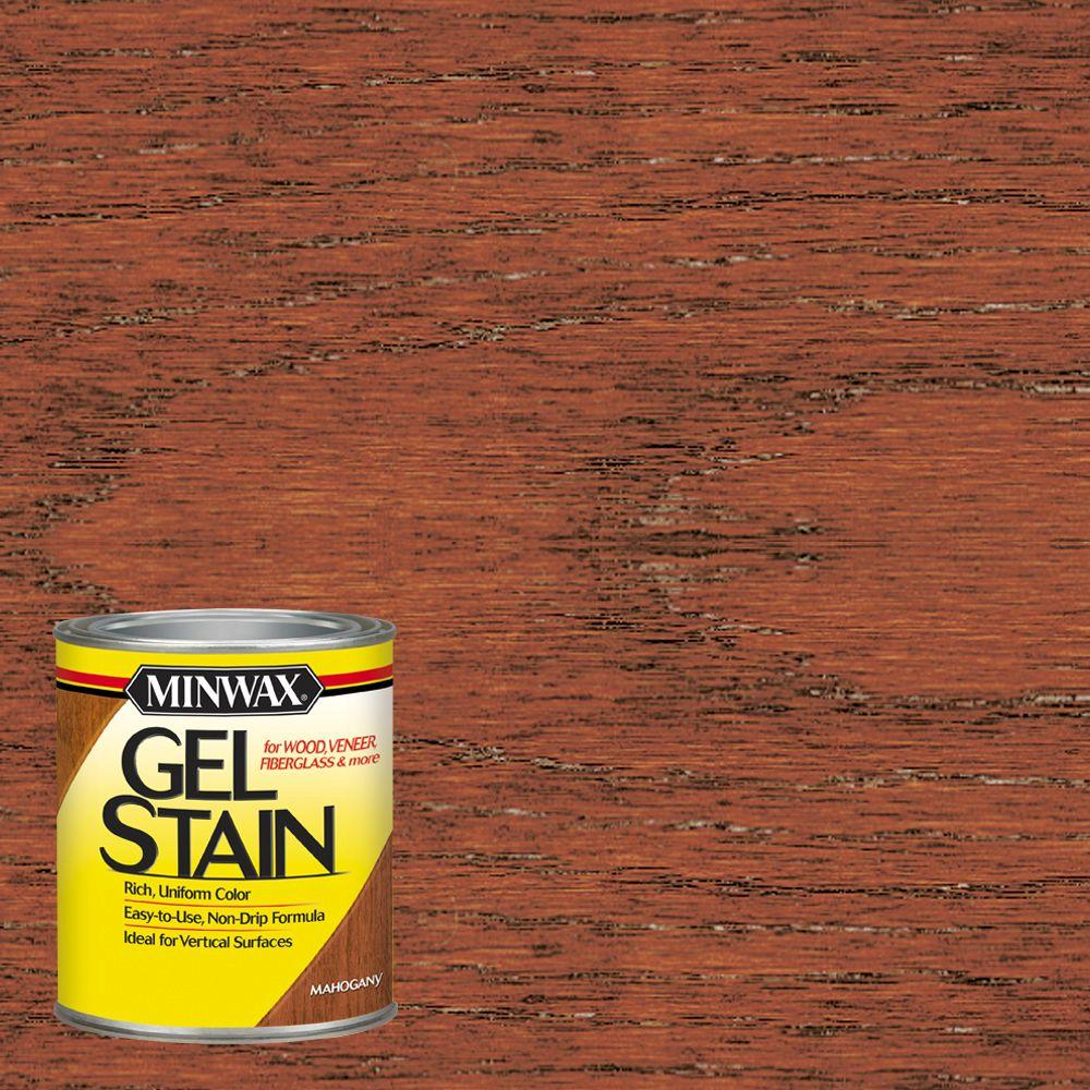 Minwax 1 qt Mahogany Gel Stain The Home Depot